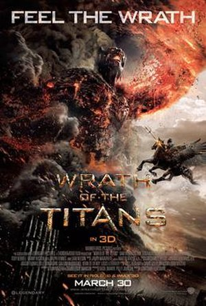 Wrath of the Titans - Theatrical release poster