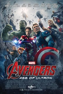 <i>Avengers: Age of Ultron</i> 2015 superhero film produced by Marvel Studios