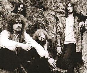 Mecki Mark Men - Mecki Mark Men's 1968–71 line up, fronted by Mecki Bodemark (lower left), with Bengt Linnarsson, Pelle Ekman and Kenny Håkansson.
