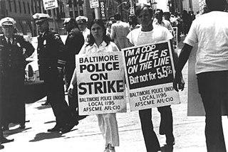 Baltimore police strike