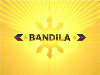 <i>Bandila</i> (TV program) Late night news broadcast in the Philippines by ABS-CBN