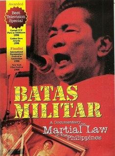 <i>Batas Militar</i> (1997 film) 1997 Philippine documentary film
