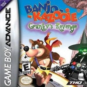 Banjo-Kazooie: Grunty's Revenge - North American GBA box art