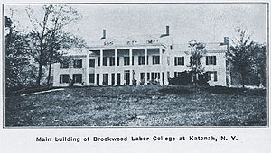 Brookwood Labor College - Main building of Brookwood Labor College, located on a former estate in Westchester County, New York.