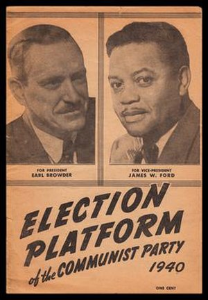 James W. Ford - James W. Ford was three times a candidate for Vice-President of the United States on the Communist Party ticket.