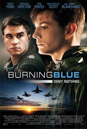 Burning Blue (film) - Theatrical release poster