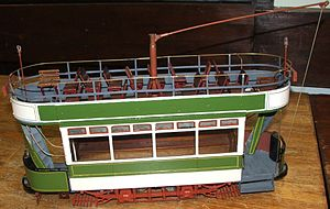 Chatham and District Light Railways Company - Image: CDLR tram model