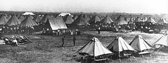 Camp Mills - Encampment of National Guard soldiers at Camp Mills, New York training for service in World War I