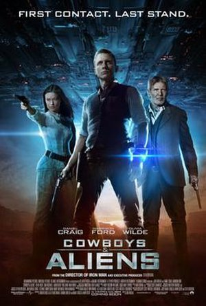 Cowboys & Aliens - Theatrical release poster