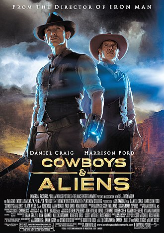 Cowboys & Aliens - International theatrical release poster