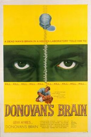 Donovan's Brain (film) - Theatrical release poster