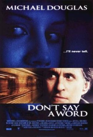 Don't Say a Word - Theatrical release poster
