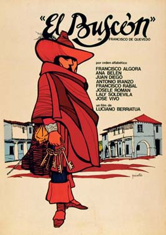 El Buscón - Movie poster of the 1970s adaptation by Luciano Berriatúa.