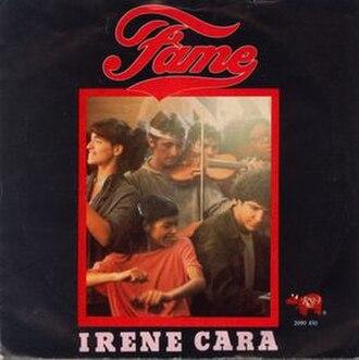 Fame (Irene Cara song) - Image: Fame Single Cover Art