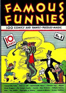 <i>Famous Funnies</i> First true American comic book