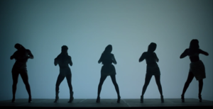 Sledgehammer (Fifth Harmony song) - In the music video, the members of Fifth Harmony portray themselves as silhouettes dancing in a background of blue and white shades.