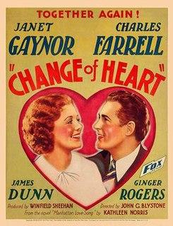 <i>Change of Heart</i> (1934 film) 1934 film by John G. Blystone