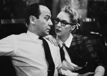 Frank Loesser and Lynn Garland, April 1956