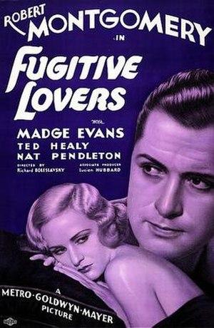 Fugitive Lovers - Image: Fugitivie lovers 1934 poster