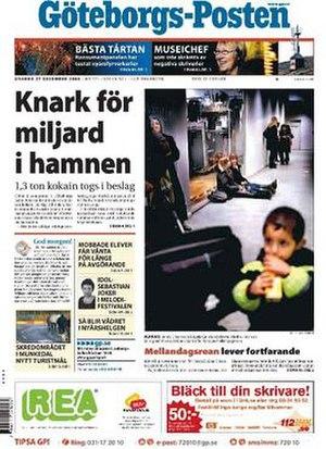 Göteborgs-Posten - Image: Göteborgs Posten frontpage