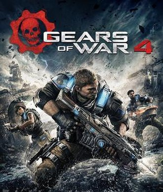 Gears of War 4 - Box art showing the three main protagonists
