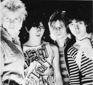 Generation X (band) - Generation X, 1977.  L-R: Billy Idol, Tony James, Bob Andrews, and Mark Laff.