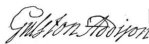 Gulston Addison - Image: Gulston Addison sign