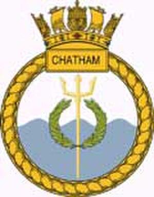 HMS Chatham (F87) - Ship's badge