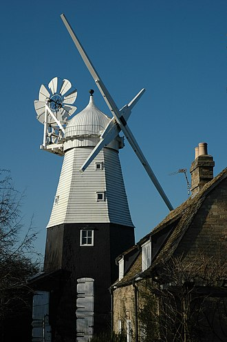 Histon and Impington - The Impington Windmill built 1806 and bought by John Chivers in 1904