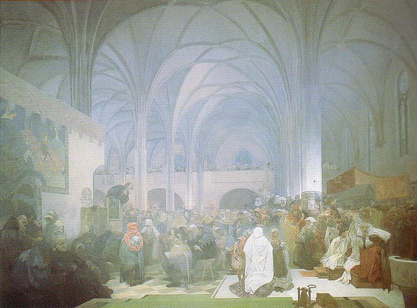 Jan Hus Preaching at the Bethlehem Chapel