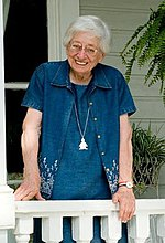 Windham on her balcony in Selma in 2007