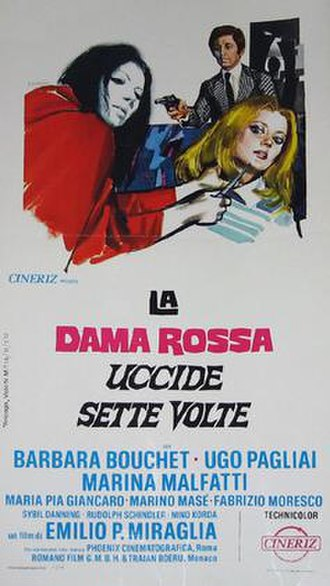 The Red Queen Kills Seven Times - Italian theatrical release poster