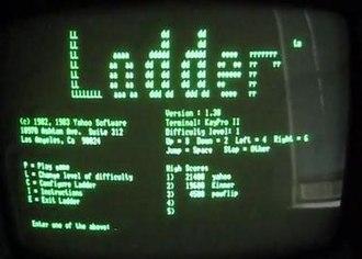 Ladder (video game) - Screenshot of Ladder title screen.