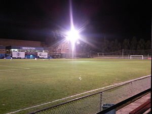 APIA Leichhardt Tigers FC - Lambert Park under floodlights with the old turf surface