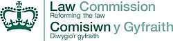 Logo of the Law Commission, showing its name and slogan in both English and Welsh