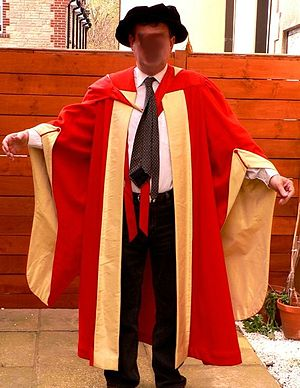 Academic dress of the University of London - The London DSc gown