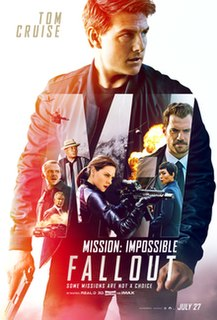 <i>Mission: Impossible – Fallout</i> 2018 American action spy film directed by Christopher McQuarrie
