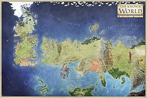 "World of A Song of Ice and Fire - ""A Map of The Known World"" by George R. R. Martin"