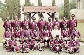 Lenana School - Lenana School 1982 15-a-side rugby squad poses for a team photo. They were the 1982 Prescott Cup winners.