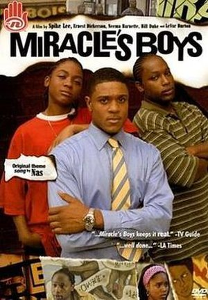 Miracle's Boys - The main characters of Miracle's Boys (from left to right): Laf, Ty'ree and Charlie Bailey.