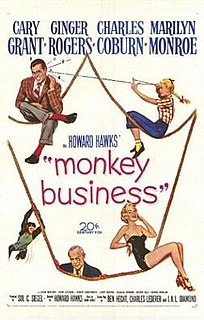 <i>Monkey Business</i> (1952 film) 1952 film by Howard Hawks