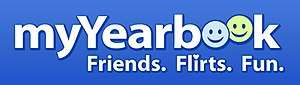 MeetMe - The myYearbook logo, which was used from 2005 to 2012.