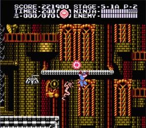 Ninja Gaiden III: The Ancient Ship of Doom - Image: Ninja Gaiden 3 NES Screen Shot 1