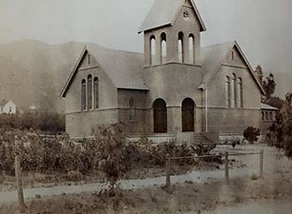 Old North Church (Sierra Madre, California) - Old North Church in Sierra Madre at completion in 1890
