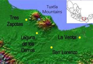 Cerro de las Mesas - Image: Olmec Heartland 1