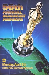 56th Academy Awards Award ceremony presented by the Academy of Motion Picture Arts & Sciences for achievement in filmmaking in 1983