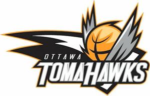 Ottawa SkyHawks - Originally unveiled Ottawa TomaHawks logo