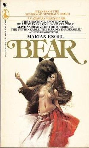 Bear (novel) - Image: Paperback Coverof Bearby Marian Engel