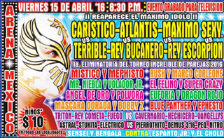 CMLL Torneo Nacional de Parejas Increíbles (2016) 2016 Consejo Mundial de Lucha Libre tournament