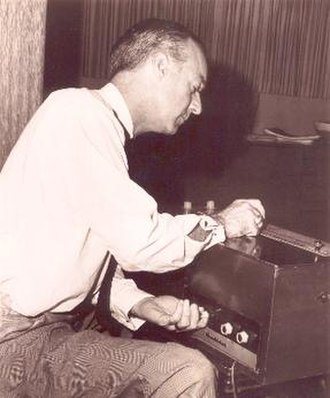 Electro-Theremin - Paul Tanner with the Electro-Theremin.